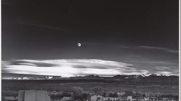 "Ansel Adams ""Moonrise, Hernandez, New Mexico, 1941."""