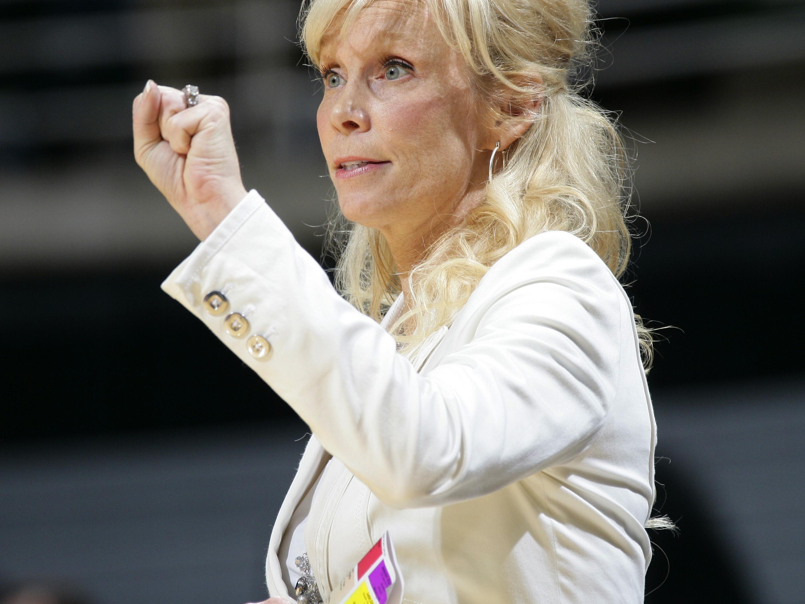 Michigan State women's basketball coach Suzy Merchant.