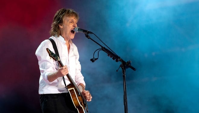 Paul McCartney, shown here at Lollapalooza in July, will play Joe Louis Arena on Wednesday.