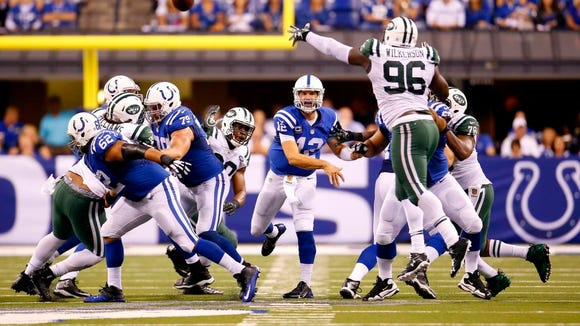Quarterback Andrew Luck and the Colts have owned the AFC South. They open division play against the Titans on Sunday at Nissan Stadium.