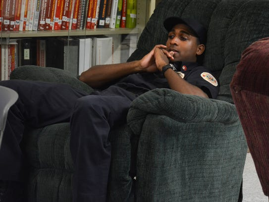 """Damien Williams watches """"A Christmas Story"""" at Station"""