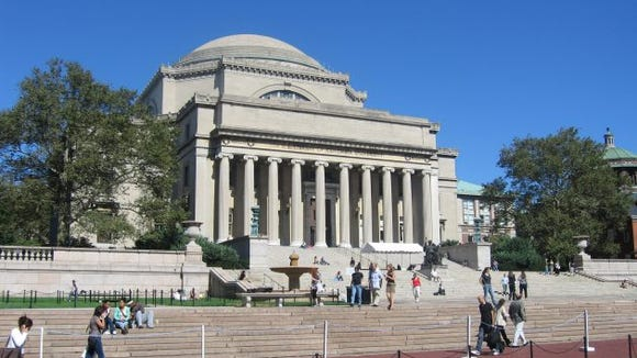 The campus of Columbia University.