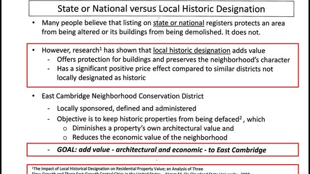 A slide from the ECNCD proponents' presentation to neighborhood homeowners, June 12, 2019. Highlights added by author.
