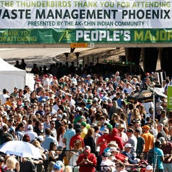 Fans at the 2016 Waste Management Phoenix Open
