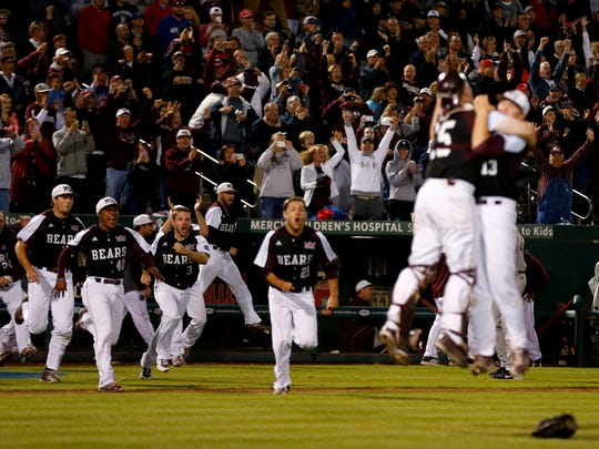 While Missouri State is making its second-ever Super Regional appearance, Arkansas is making its fourth in the past seven years.