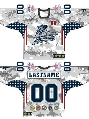 The Florida Everblades will be wearing military-themed jerseys on Friday, Nov. 4, 2016 and Saturday, Nov. 5, 2016 against the Norfolk Admirals at Germain Arena that will be auctioned off after Saturday's game to benefit the National Coalition For Patriots, a local charity.