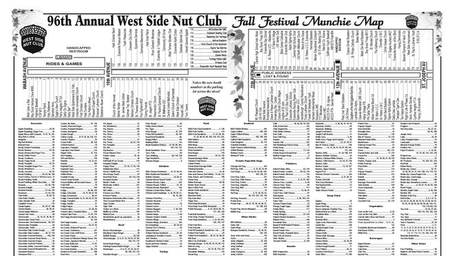2017 West Side Nut Club Fall Festival Munchie Map