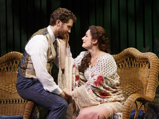 """Matthew Morrison and Laura Michelle Kelly in """"Finding"""