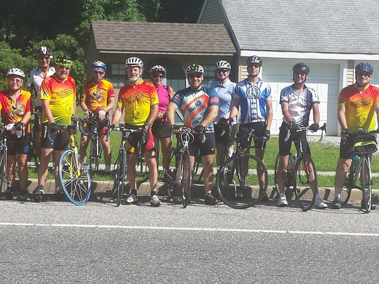 The South Jersey Wheelmen bike club last August on its annual ride to Glasstown Brewery.