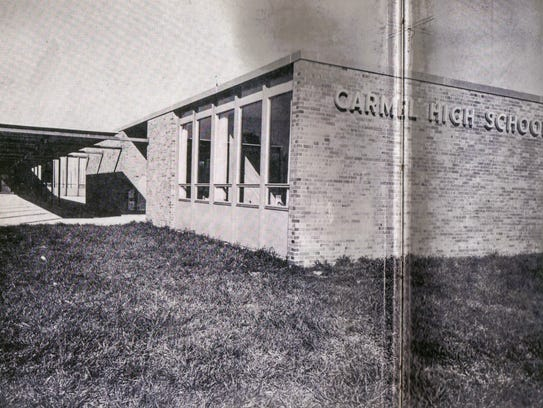 The former Carmel High School in Carmel, Ind.