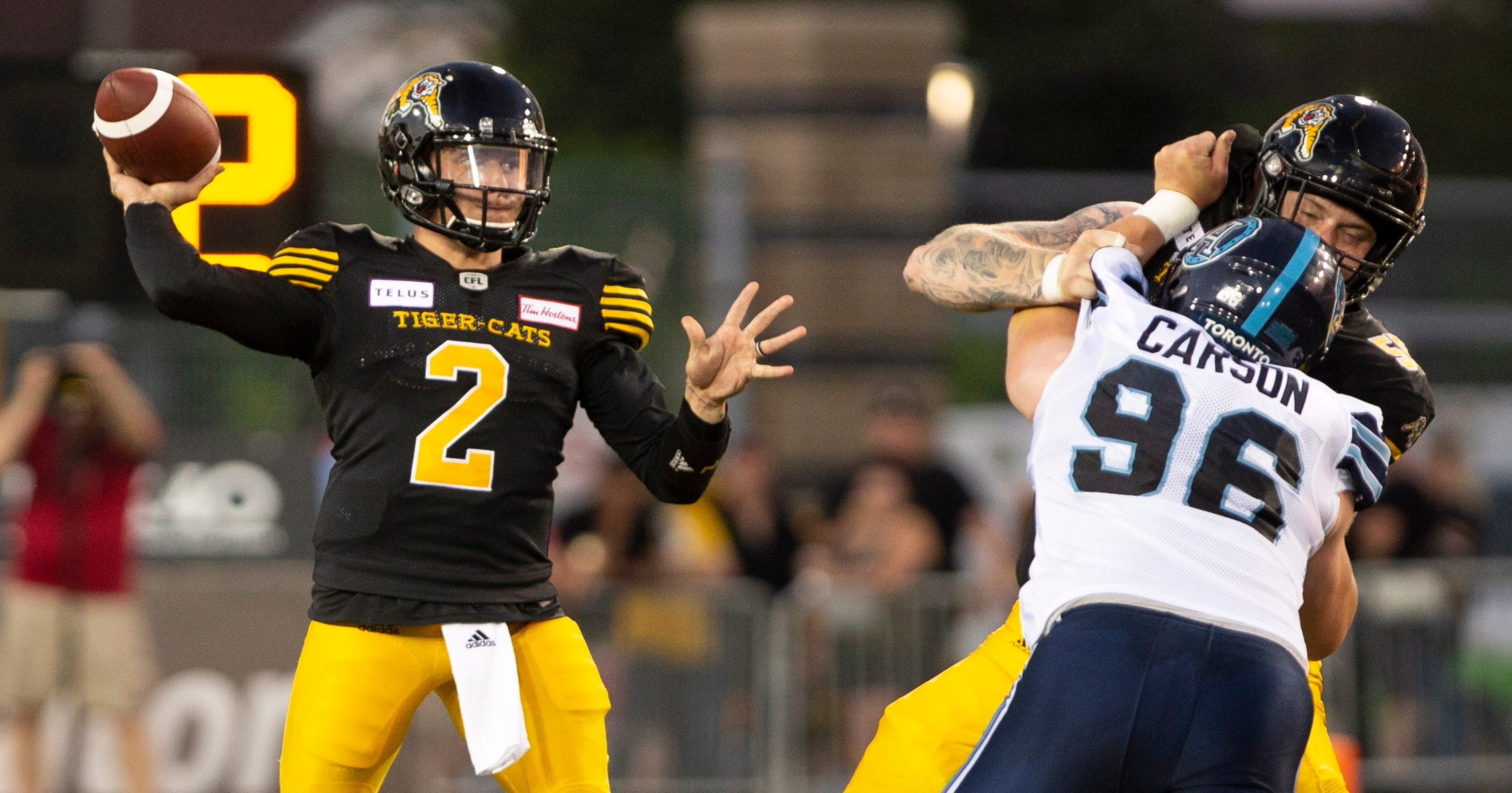 5bb6fdb35 Johnny Manziel s CFL debut with Hamilton Tiger-Cats a positive step in  football comeback