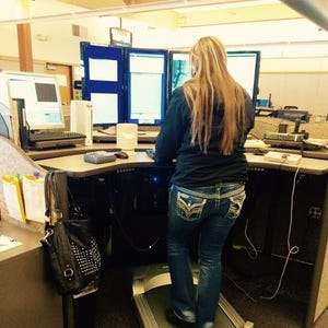 Turn Treadmill Into Desk