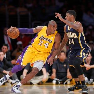 Kobe Bryant And His Dog Walking