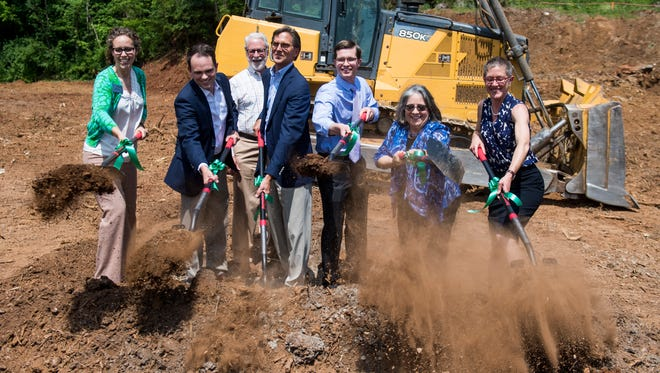 Ground is broken for Southside Flats in South Knoxville on Monday, May 14, 2018.  Southside Flats is a $29.9 million development that will have 172 units of affordable housing.