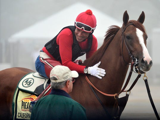2014-05-16 California Chrome gary advance