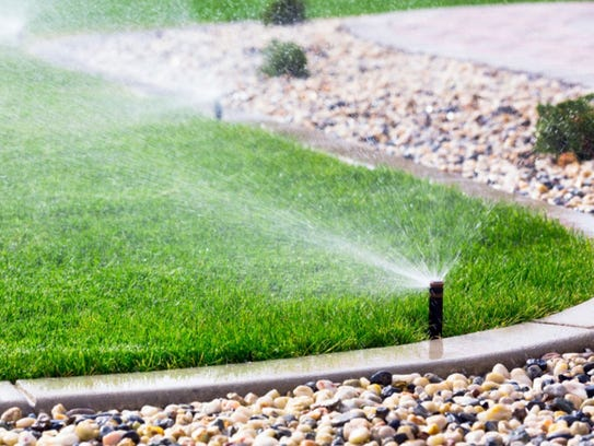 Traditional sprinklers are very common and effective.