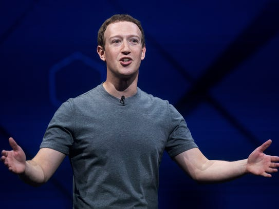 Facebook CEO Mark Zuckerberg speaks at his company's