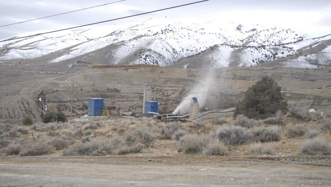 Comstock Mining's operations sit near the Lucerne Pit in Silver City on Feb. 15. Comstock Mining praised the Nevada Supreme Court's decision to affirm Lyon County's land use decisions.
