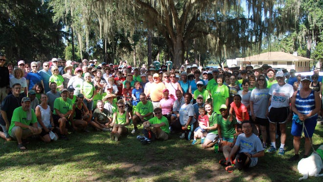 More than 200 people came out for the Move.Tallahassee.com walk at Maclay Gardens Sunday afternoon.