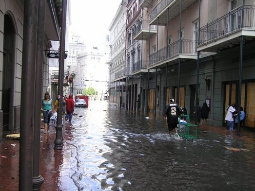 New orleans dining a decade after hurricane katrina for Bourbon street fish