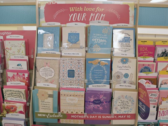 Mother's Day cards at Karens Hallmark shop at 32nd