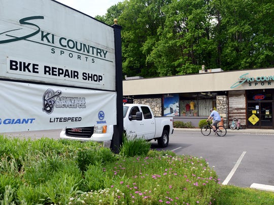 Ski Country Sports and Asheville Bicycle Co. at 1000 Merrimon Ave.