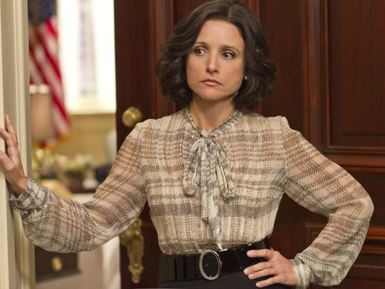 "Julia Louis-Dreyfus plays Selina Meyer on ""Veep."""