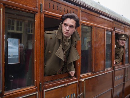 "Kit Harington as Roland Leighton in a scene from ""Testament of Youth."""