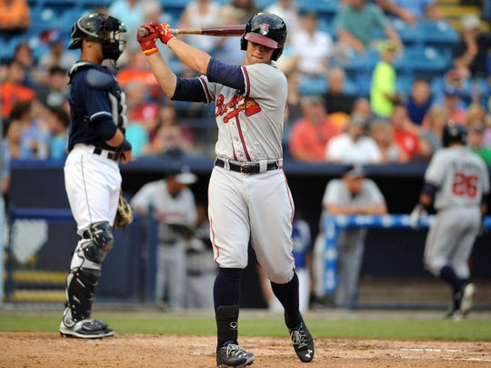 A first-round draft pick of the Atlanta Braves last year, Braxton Davidson is hitting .267 with five home runs and 20 RBIs with Class A Rome.
