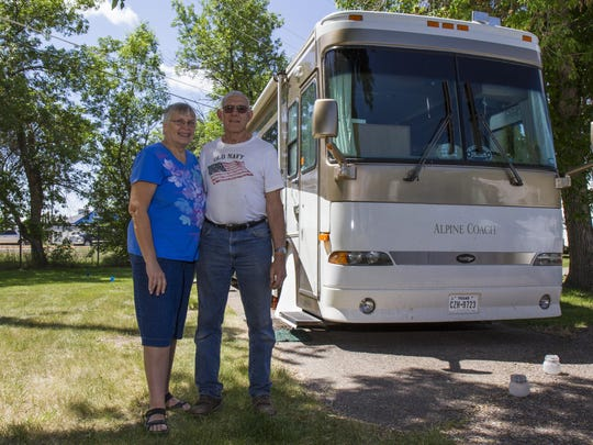 Mem and Arnie Fichtenberg bought their 40-foot diesel
