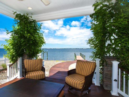 There are unobstructed waterfront views at this Lavallette mansion.