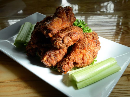 Award-winning Tiger Wings at East Village Grille in East Asheville.
