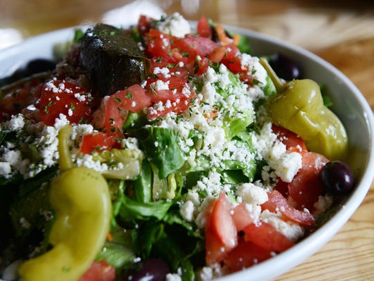 The Greek salad from the East Village Grille.