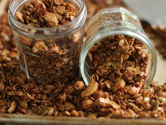 Cinnamon Citrus Granola with Pepitas and Cashews can be served with yogurt or applesauce, packs easily into lunches and even can be sprinkled over ice cream.