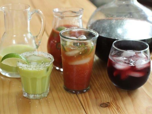 Summer cocktails pitchers