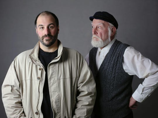 "Brian Isaac Phillips, left, and Joneal Joplin starred in Ensemble Theatre Cincinnati's production of ""Outside Mullingar,"" directed by former Playhouse in the Park artistic director Ed Stern."