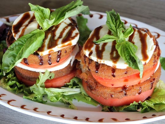 As seen on the cover, the eggplant salad is a great vegetarian dish.