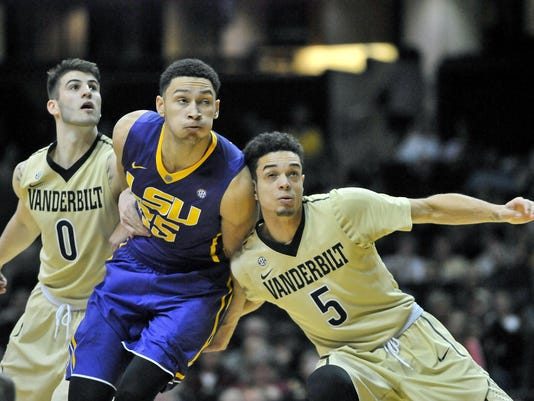 NCAA Basketball: Louisiana State at Vanderbilt