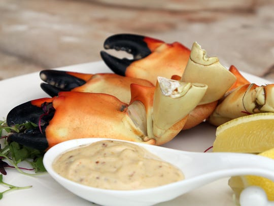 Stone crab with mustard sauce.