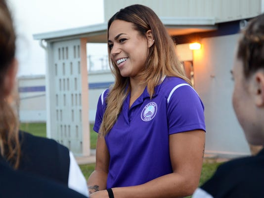 Orlando Pride Player Toni Pressley visits West Shore