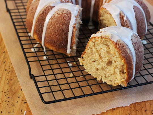 Sour cream cinnamon coffee cake would be great to have on hand if you have houseguests.