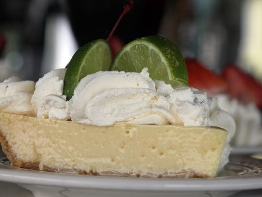 The key lime pie is made in-house.