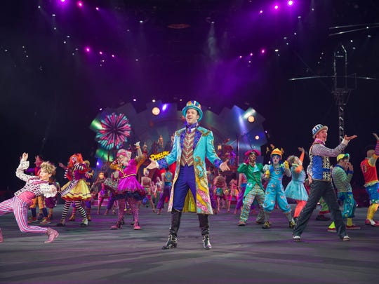 Ringmaster David Shipman leads the cast of the Ringling Bros. and Barnum & Bailey's Circus XTREME.