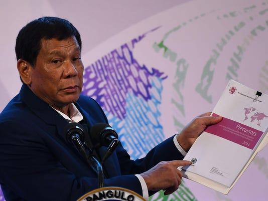 Duterte PHILIPPINES-ASEAN-SUMMIT