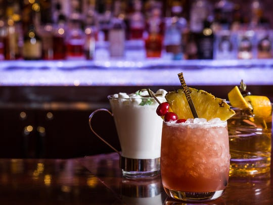 At Bimini Steakhouse in Peppermill Reno, mixologist Ilona Martinez creates craft cocktails like a Smoky Old-Fashioned with 6-year-old rye whiskey, a Kissed in Wisconsin with Wisconsin schnapps, and Spiced Tropical Punch with spiced rum.