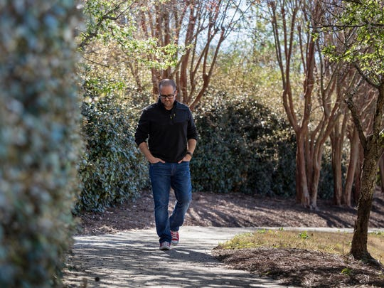 Steve Austin, a life coach, speaker and author, is photographed outside his office in Birmingham, Alabama on March 6, 2018.