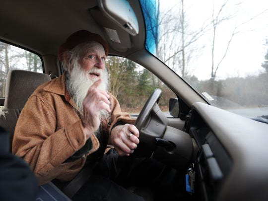 Asheville resident Bill Thurman, 83, drives his 2001 Toyota Tacoma near Fairview Road in East Asheville last week.