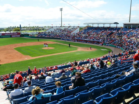 The Houston Astros and Washington Nationals, this year's World Series teams, used to play spring games at Space Coast Stadium in Viera.