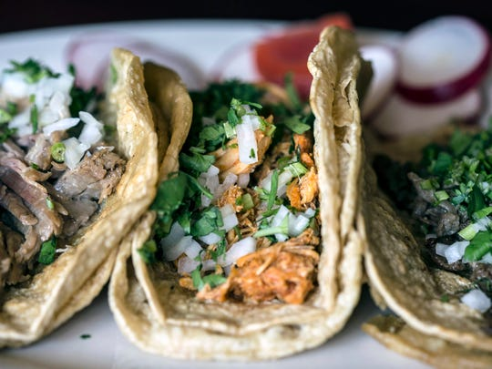 The regular tacos at El Mariachi come in a corn tortilla and boast many topping options.
