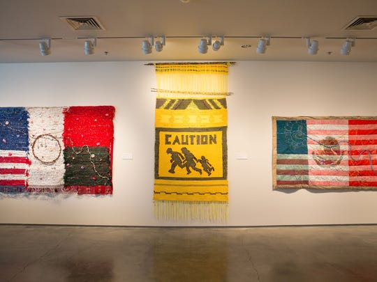 """Several woven pieces by Consuelo Jimenez Underwood adorn the North Feature Gallery as part of """"Mothers - The Art of Seeing,"""" on view now through May 3 at the Nevada Museum of Art in downtown Reno, Nev."""